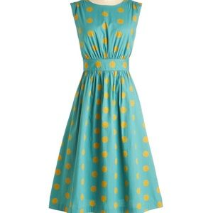 ModCloth Emily and Fin Lucy Polka Dot Dress